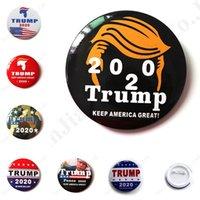 medaillenbroschen großhandel-7 Arten Metal Badge Trump 2020 Emaille Pins Amerika Präsident Republikanische Kampagne Politische Brosche Mantel Schmuck Broschen Geschenke Medaille C103002