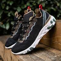 Wholesale brown shoe dye resale online - React Element Undercover Running Shoes Tie Dye By You Chill Solar d Black Coral orange Designer Sports Sneakers Size