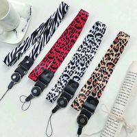 ingrosso porta portachiavi-Universal Fashion Browm / rosa / nero / bianco Leopard Key Lanyard Cheetah Id Badge Holder Animal Phone Neck Cinghie con portachiavi