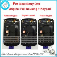 blackberry handy abdeckungen großhandel-Für blackberry q10 original neue voll komplette handy gehäuse + rahmen abdeckung case + russisch frankreich englisch tastatur mit