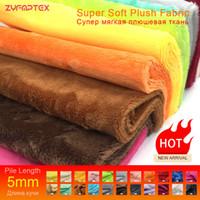 tecido de veludo patchwork venda por atacado-ZYFMPTEX 2019 Nova Chegada 5mm Pilha Minky Tecido De Pelúcia Para Costura DIY Patchwork 45x50 cm 100% Poliéster Telas Tecido De Veludo