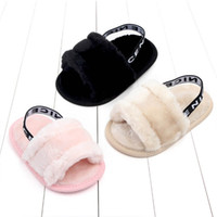 Wholesale first fur color resale online - baby shoes toddler girl shoes infant shoes baby sandal baby girls sandal First Walking Shoe year A7142