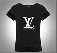 bayanlar yüksek yaka gömlek toptan satış-2019 Avrupa İtalyan sokak tarzı T-shirt rahat moda high-end grafik baskı yuvarlak yaka kadın T-shirt s-xl ücretsiz kargo