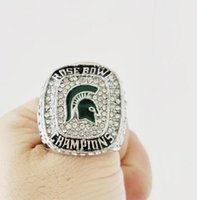Wholesale men's rings online - New Fine high quality Michigan State Spartan s Cotton Bowl Championship ring Men Rings