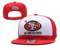 örgü kırmızı kapaklar toptan satış-49ers Yeni 2019 Siyah Taslak On-Sahne Resmi 59 FIFTY Mesh Taze Taslak Kırmızı On-Sahne Logosu Omaha Monte şapka Beyaz Top Caps