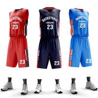 ingrosso maglia di ritorno rapido-USA Uomini College Basketball pullover su ordinazione Uniforme di basket Imposta maglia professionale Throwback pallacanestro Quick Dry Sportswear