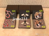 Wholesale valentine's day red dresses resale online - High quality Mens animal Short Wallet Men Leather snake Tiger bee Wallets For Men Purse Men Wallet with dust bag and gift box