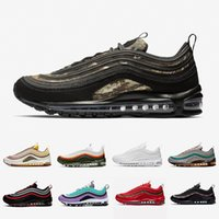 lazer ayakkabısı toptan satış-Nike Air max 97 shoes Regency purple Laser Fuchsia Women Men Running Shoes Sliver Bullet South Beach Gym red White Outdoor Sports outdoor Sneakers 36-45