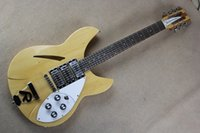 Wholesale electric guitar ricken for sale - Group buy Hot Selling Semi hollow Rick Ricken Guitar Strings RICK Burlywood Electric Guitar with R Tail
