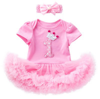 Wholesale zebra party dresses online – ideas Newborn babies girls st nd birthday dress up one piece rompers skirts tutus with headband toddler infant gifts party clothing set crown