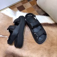 Wholesale sandals us15 resale online - Men Women Sandals Boutique Travel Simple Luxury noble Thick bottom Lambskin Suede Fashion Brand Sexy Exposed toe ladies hollow casual sandal