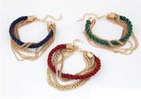 encantos indios al por mayor-Pulsera brazalete hecho a mano indio encanto pulseras joyería de moda boda encanto pulseras brazaletes