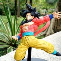 siyah saçlı anime toptan satış-Dragon Ball Doll Siyah Saç Oğlu Goku Aksiyon Figürleri Zamas Modeli Japon Anime Dayanıklı 12jt F1 Giymek
