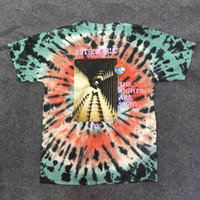 résumé t shirts achat en gros de-19ss Nouveau Travis Scott Astroworld Festival Run T-shirt Tie Abstract Tie Tie