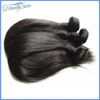 productos de tejido de pelo virgen al por mayor-Beautysister productos para el cabello sin procesar de seda brasileña recta cabello virgen mezclado 3 paquetes 300g lote extensiones de cabello humano brasileño teje
