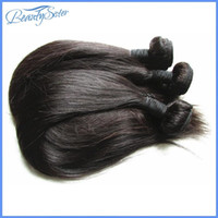 ipek brezilya kıl örgüsü toptan satış-Beautysister saç ürünleri işlenmemiş brezilyalı ipek düz bakire saç karışık 3 paketler 300g lot brezilyalı İnsan saç uzantıları örgüleri