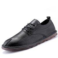 плоская обувь korea новый оптовых-Повседневная Мужчины Мокасины Мужчины Квартиры Новые Мужчины Обувь Качество Горячие Продажа Мокасины Обувь Британский Корея Стиль