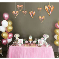 Wholesale valentine ornament resale online - Stereo Love Heart Shaped Hanging Ornament Exquisite D Wall Decor Pendant For Valentine Day Wedding Party Supplies High Quality jks BB