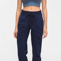 Wholesale yoga pants dancing for sale - Group buy New Woven Pocket Yoga Trouser Loose Long Dance Jogger Pant Quickly Dry Sport Elastic Sweatpants For Womens Autumn And Winter dq E19