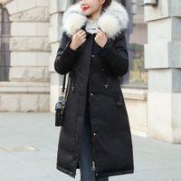 ingrosso bottoni di pelliccia-cappotto signore inverno Cappotti in pelliccia sintetica con cappuccio Button cappotto lungo Solid Giacche Pocket cappotti chaquetas de invierno para mujer # y3