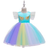 Wholesale girls yellow striped dress for sale - Group buy Popular Holiday Girl Dresses for Performance Kids Children Halloween Christmas Party Wears Cosplay Costume for Girls