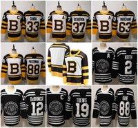 jersey de invierno bruins al por mayor-2019 Clásico de invierno Chicago Blackhawks Boston Bruins Toews Jugador de hockey Patrick Kane Seabrook Crawford Pastrnak Bergeron Marchand