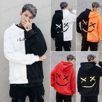 kapuzenjacke mit kapuze großhandel-Winter Herren Langarm-Kapuzen-Sweatshirt Pullover Pullover Outwear Mantel-Jacken-Tops