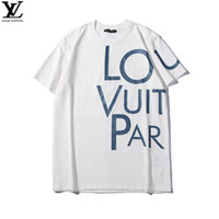 ingrosso nuove t-shirt stampate-New Louis Vuitton T Shirt Designer 19ss luxury t shirt Fashion lv uomo TShirts Sport t-shirt Prited louis vuitton donne magliette supreme