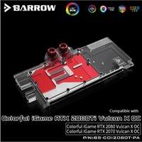 ingrosso scheda madre colorata-Barrow full cover GPU Water Block per Colorful iGame RTX 2070 2080 Ti Vulcan X OC Aurora MotherBoard SYNC AURA BS-COI2080T-PA