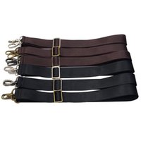черный длинный ремень плечо сумки оптовых-3 цвета металла! Длинные регулируемые плечевые ремни 38 мм для мужских сумок, ремней для сумок, черный, коричневый