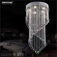 ingrosso stanza delle lampade alogene-Soffitto LED Modern Chandelier Light Fixture cristallo lampada alogena Per Soggiorno Camera da letto 100% Guanrantee Prompt Spedizione