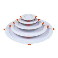 plafones empotrables led más delgados al por mayor-Ultra delgada de techo panel LED luces empotradas Luz LED Spot Luz de Down con conductor ligh techo AC85-265V