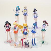 sailor moon pvc al por mayor-15 cm Anime Super Sailor Moon Doll Shfiguarts Mercurio Marte Venus Pvc Acción Sailor Moon Figura Juguetes Regalos de Navidad para niños