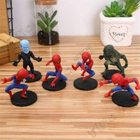 Wholesale spiderman toys doll resale online - The Avengers SpiderMan Big Head Doll Anime Doll Micro Landscape Decoration Doll Model Toy Cake Decor
