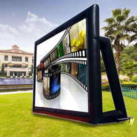 Wholesale widescreen screen online - 8x6M Inflatable Movie Projection Screen Outdoor Party Backyard Cinema Widescreen Background in courtyard Playground