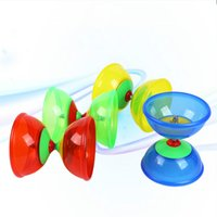 Wholesale mini yoyo resale online - Classic Toys One Bearing High Performance Soft Glue Diabolo Chinese Yoyo with Handsticks Strings Juggling Sports Toys
