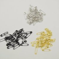 silver plated safety pins 도매-1000 PC 3 색 실버 블랙 골드 작은 니켈 도금 안전 핀 4 분의 5 분 길이 (18mm) wholesales for hang hang tag