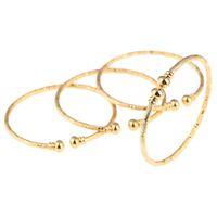 pulseiras de pulseira de ouro africano venda por atacado-Nova Índia Africano Ouro Pulseira Do Bebê Jóias Para Meninos Meninas Da Cor do Ouro Etíope Crianças Pulseira Pulseira Jóias