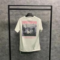 óleo camisetas venda por atacado-Nova 19SS Monet pintura a óleo Tee Oversize T-shirt Das Mulheres Dos Homens 1o: 1 de Alta Qualidade Moda Verão Estilo Top Tees casuais t camisas