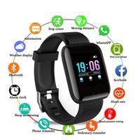relógio de pulseira esportiva venda por atacado-D13 Inteligente Relógios 116 Além disso Heart Rate relógio inteligente Pulseira Sports relógios inteligentes Banda Waterproof Smartwatch Android Com embalagens de varejo