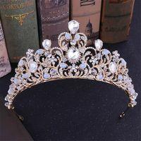 vintage-stil-tiara großhandel-Frauen Vintage Style Einzigartige Tiara Crown Mädchen Party Prinzessin Beauty Stirnband Braut Hochzeit Mode Kopfschmuck Haarschmuck