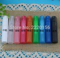 plastiksprayflaschen preis großhandel-Fabrik Preis 5000 teile / los 5 ml Transluzenz Kunststoff Zerstäuber Flasche Reise Make-Up Parfüm Spray Mehrwegflaschen