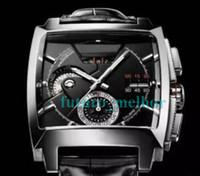 relógios de luxo venda por atacado-2019 Novo Top Homens Relógio de Luxo Movimento Automático Mecânico de Aço Inoxidável Esportes Relógios De Couro Quadrado SELF-WIND Mens Negócios relógio de Pulso