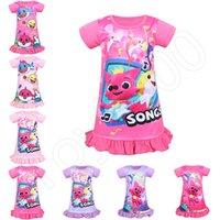 vestido de pijama al por mayor-8 estilos Baby Shark Dresses Ropa de niña Vestido de princesa para niños Baby Shark Ball Gown Dress Baby Shark Pyjamas