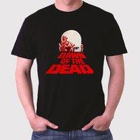 moda do amanhecer venda por atacado-Novo Dawn Of The Dead Logotipo dos homens T-Shirt Preta Tamanho S para 3XL Casual manga Curta O Pescoço Moda Em Torno do pescoço do homem