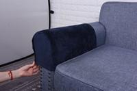 neue mode stuhl abdeckung großhandel-2 stücke Mode Neue Sofa Armlehne Turm Staubdicht Feste Abdeckung Schutzfolie für Stuhl Sessel Sofa Liege Couch Hussen