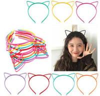 Wholesale hair style korea resale online - Multi Choice Korea Cute Simplye Style Hair Sticks Cat Ear Crown Bow Design Girl Kids Hair Sticks Birthday Party Hair Accessories