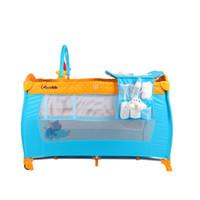 cunas de metal para bebés al por mayor-Alta calidad plegable cama del niño cuna del bebé Mosquito Net niños bebé bebé Safty mosquitera cuna cama parque infantil jugar carpa