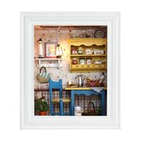 el yapımı model ev toptan satış-Diy Miniatura Mini Evi Minyatür Dollhouse Mobilya Bebek Evi El Yapımı Zanaat Bulmaca Modeli Kitleri Oyuncaklar Hediye Çocuk Yetişkin Için Y19070503