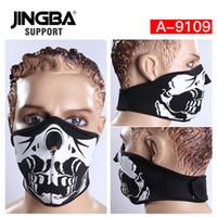 yeni kayak kafatası maskesi toptan satış-JINGBA DESTEK Yeni Cadılar Bayramı Kafatası Serin maske Açık spor yarım yüz maskesi sürme bisiklet kayak Üreticisi Dropshipping